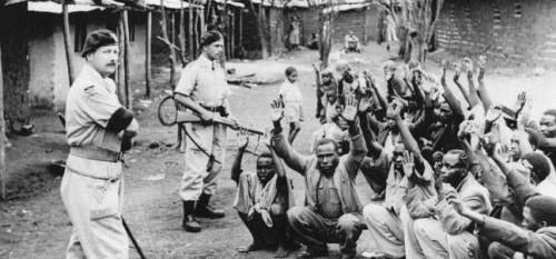 마우마우 봉기 당시 영국 정부의 진압 모습